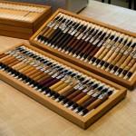 木のペンの収納ボックスを制作