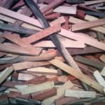 木のペンの端材