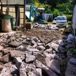 工場の土間のコンクリートを打ち直す