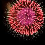 不思議な花火の写真