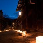 妻籠宿の氷雪の灯祭り・2012(景色)