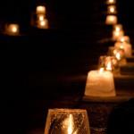 妻籠宿の氷雪の灯祭り・2012(クローズアップ)