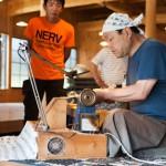 妻籠宿での木のペン制作までの過程