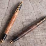 木のペンの部品を黒い部分だけ残して交換