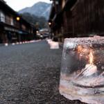妻籠宿の氷雪の灯祭り・2013(早い時間)