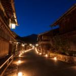 妻籠宿の氷雪の灯祭り・2013(日暮れから)