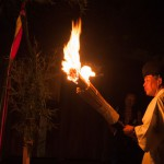 妻籠宿の火祭り2014