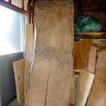 栓の木のダイニングテーブルの制作・1
