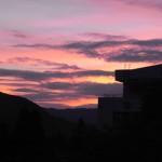 黄昏時の空
