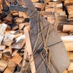 妻籠宿の風俗行列で使う山師の道具