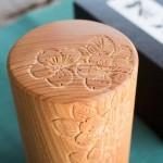 軽井沢彫の茶筒