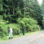 地区の草刈りと山の神様の植樹